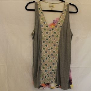Anthropologie Pattern-Block Tank Top Size:M